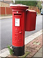 TQ2292 : Edward VII postbox, Tennyson Road / Marion Road, NW7 by Mike Quinn