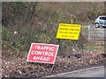 SK3094 : Eyup ... What's all this then?  The A6102 closed for 15 minutes, at Wharncliffe Side, near Oughtibridge by Terry Robinson