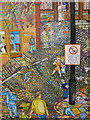 TA0488 : Street scene mural, Bland's Cliff by Pauline Eccles