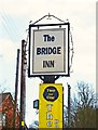 SJ4703 : Bridge Inn (2) - sign, near Dorrington by P L Chadwick