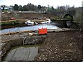 H4572 : Construction work beside King James Bridge, Omagh by Kenneth  Allen