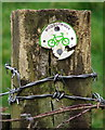NZ3174 : Cycle Route Sign, Holywell Dene by Christine Westerback