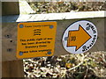 TL8537 : Footpath Sign by Keith Evans