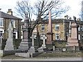 SE2721 : Ossett - monuments in Trinity Church graveyard by Dave Bevis