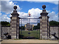 SP1412 : The Gates at Lodge Park by Des Blenkinsopp