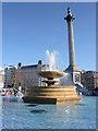 TQ3080 : Fountain, Trafalgar Square, London SW1 by Christine Matthews