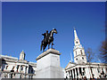 TQ3080 : Statue of King George IV, Trafalgar Square, London SW1 by Christine Matthews