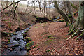 NT2261 : Lawhead Burn above Penicuik by Jim Barton