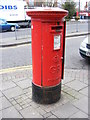 TQ4585 : Faircross Post Office George V Postbox by Adrian Cable