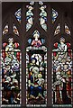 TQ2573 : St Michael & All Angels, Granville Road, Southfields - Stained glass window by John Salmon