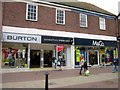 SO9670 : Bromsgrove High Street  Burtons Dorothy Perkins & M&Co by Roy Hughes