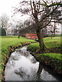 SP0481 : The Bourn, Bournville Park by Phil Champion