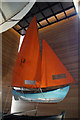 HU4741 : Suspended boat on display in Shetland Museum, Lerwick by Mike Pennington