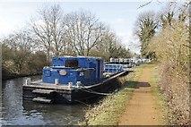 SU5566 : Work barge near the bridge by Bill Nicholls