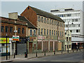 SO9198 : Disused shops in School Street, Wolverhampton by Roger  Kidd