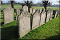 SO8543 : Gravestones in Severn Stoke churchyard by Philip Halling