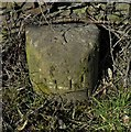 SE2609 : OS Rivet on Boundary Stone High Hoyland by Alan Clark