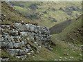 SK1774 : Limestone outcrop in Tansley Dale by Andrew Hill