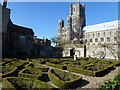 TL5480 : Walled garden near Ely cathedral by Richard Humphrey