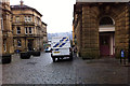 SE0925 : Pavement parking on Crossley Street, Halifax by Phil Champion