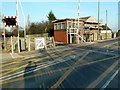 SE3105 : Level crossing and signal box at Dodworth Station by Graham Hogg