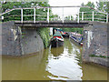 SJ7659 : Short canal arm at Malkin's Bank, Cheshire by Roger  Kidd