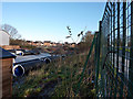 SJ8293 : Metrolink work site near Chorlton High School by Phil Champion