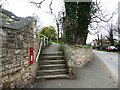SE4529 : Steps up to the churchyard, Park Lane, Ledsham by Christine Johnstone