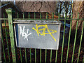 SJ8292 : Faded notice at Chorlton Park Adult Learning Centre by Phil Champion