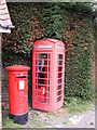 TM4689 : Telephone Box &amp; The Street Postbox by Adrian Cable
