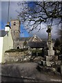 SX5467 : Church and cross, Meavy by Derek Harper