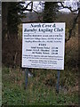 TM4690 : North Cove & Barnby Angling Club sign by Adrian Cable