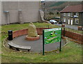 ST2091 : Sculpture, information board and bench, Wattsville by Jaggery
