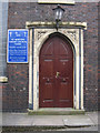 SJ8253 : The west door of St Martin's church by John S Turner