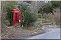 SU5518 : Telephone Box (disused) at Little Cottage, Beeches Hill by Peter Facey