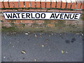 TM4462 : Waterloo Avenue sign by Adrian Cable