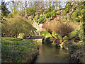 SJ8383 : River Bollin, Quarry Bank Mill Lower Garden by David Dixon