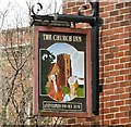 SJ8597 : Sign for the Church Inn by Gerald England