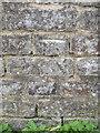 SJ5659 : Bench mark on Tilstone Bank canal bridge by John S Turner