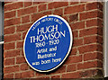 C8532 : Hugh Thomson plaque, Coleraine by Albert Bridge