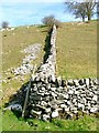 SK1458 : Dry Stone Wall Corner by Mick Garratt