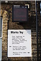TL9123 : Marks Tey Station - detail by Glen Denny