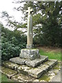 SJ0643 : Cross at Rug Chapel by M J Richardson