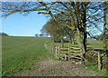 SK1867 : Footpath skirting the top of Bole Hill by Andrew Hill