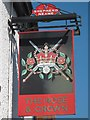 TQ6250 : The Rose & Crown sign by Oast House Archive