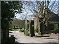 SK3089 : Wisewood Cemetery gates by Alan Murray-Rust