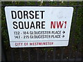 TQ2782 : Street sign, Dorset Square NW1 by R Sones