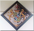 SP9019 : The Hatchment, St Mary the Virgin, Mentmore by Chris Reynolds