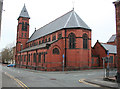 SJ7055 : St Mary's Church, Crewe: rear view by Espresso Addict