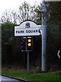 SK3587 : Park Square sign by Adrian Cable